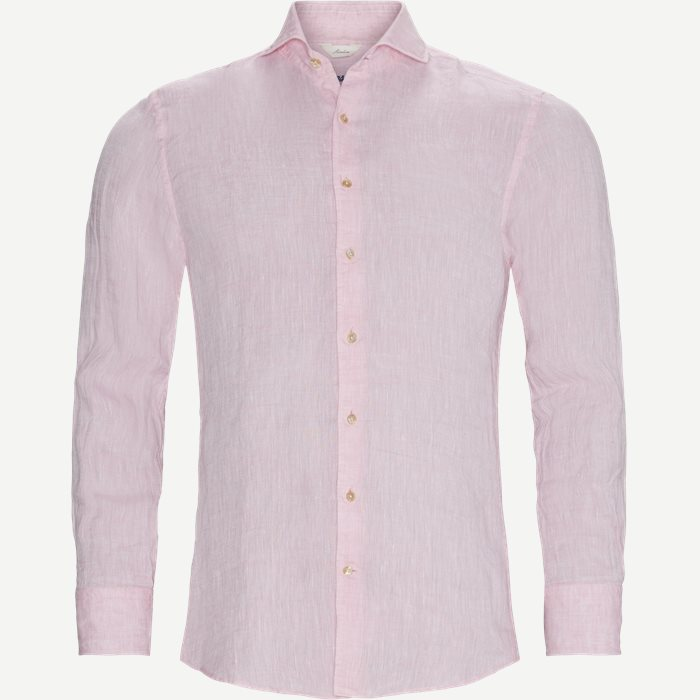 Linen Shirt - Skjorter - Pink